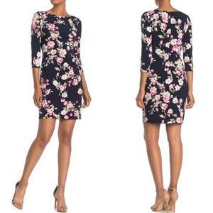 Eliza J floral dress with twist detail